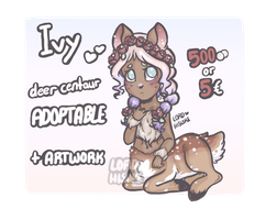 (CLOSED) Pastel deer-centaur by LordHisuke