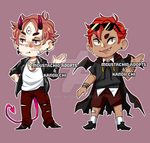 Collab adopts with moustachio-adopts: [CLOSED] by kanoii-chi