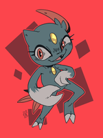Happy Pokemon Day! (Sneasel) by PatchedTabby