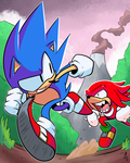 Sonic and Knuckles by CorytheC