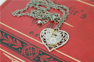 Heart's Gears Necklace by GildedGears
