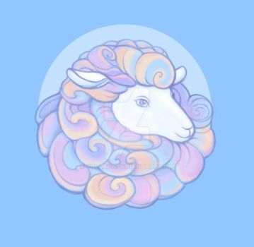 Sheep portrait for Stylized Challenge by Yullapa