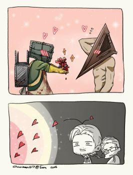 TheKeeper_and_PyramidHead by ChanmanNo-7