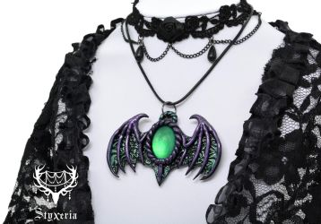 Dragon Clay Pendant by Styxeria
