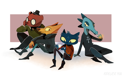 night in the woods by scrii