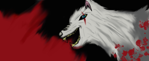 Wolf sketch colored by Homeforever