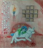 Nepeta in her Cave by EquestrianTardis