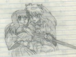 InuYasha and Kagome by InuMimi
