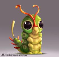 Kanto - Caterpie by ArtKitt-Creations