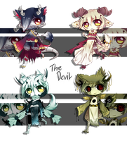 [CLOSED] Adoptable Batch 19 - The DEVIL by Puripurr