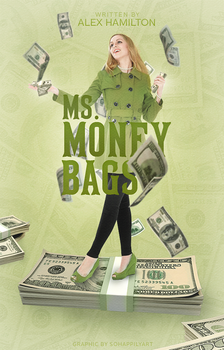 Book Cover 048 - Ms. Money Bags by sohappilyart