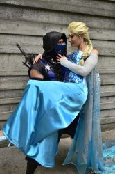 Sub-Zero and Elsa by MrAldenRD05
