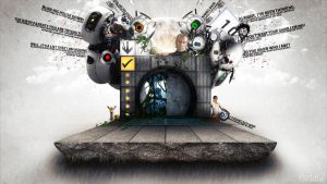 Portal 2 Wallpaper by Teddann