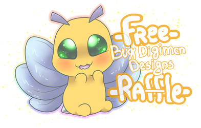 [FREE] Bug Digimon Design Adopt - RAFFLE! [CLOSED] by Daniela-Arts