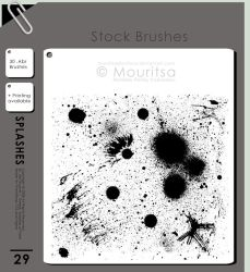Brush Pack - Splashes Of Paint by iMouritsa