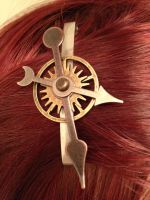 Clockwork hair clip by Kthulha