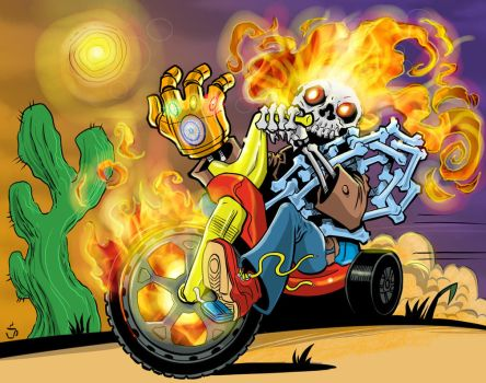 Ghost Rider Chibi by joriley