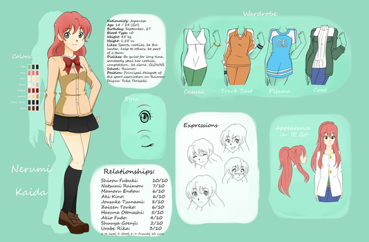 Nerumi Kaida [IE OC Reference Sheet + Nueva Bio] by Zaphire-Black