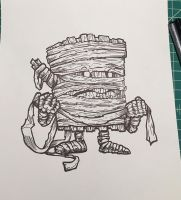 Inktober 06: The Mummy Log by nickv47