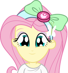 Mlp EqG Fluttershy (cute face) vector by luckreza8