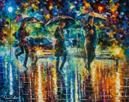 Rain Full of Surprises by Leonid Afremov by Leonidafremov