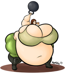 Kim and her Kettlebell by WilfordBrimley