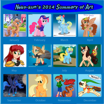 My 2014 Art Summury by Neko-kun67