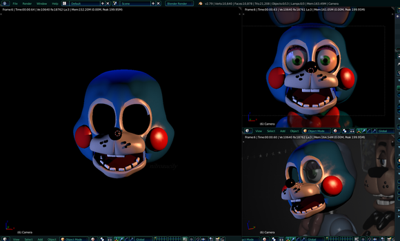 Toy Bonnie v1 W.I.P [Blender] by Nitroaucity