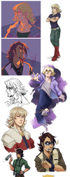 Tiger and Bunny sketch dump by Sardiini