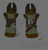Hoof Gloves Concept by Boarfeathers