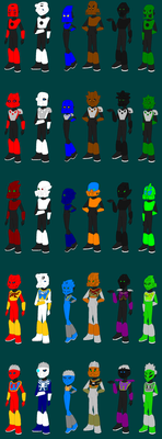 Toa Mata In All Versions in Equestria Girls Style by Eli-J-Brony