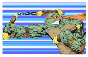 TMNT Michelangelo by drawhard