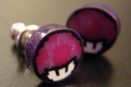 Nintendo Mushroom Earrings by thecraftinista