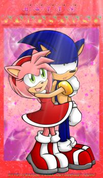 Happy Amy and poor Sonic by Extra-Fenix