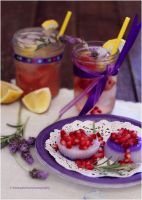 Fruity Lemonade w/ lavender-infused flavor Panna by theresahelmer