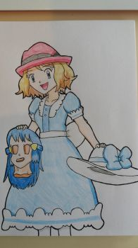 Blue Dress Dawn to Serena Unmasked by StuAnimeArt