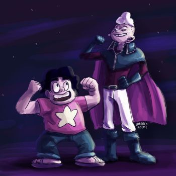 Steven and Lars of the stars by UmbreoNoctie