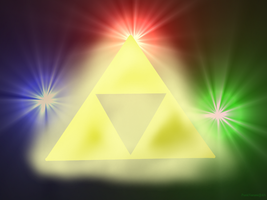The Triforce and the Goddesses by PunkNarumi