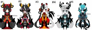 Kitsune - oni adoptable batch CLOSED by AS-Adoptables