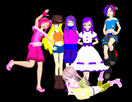MMD Humanized ponies by 3KatsuneRiku21