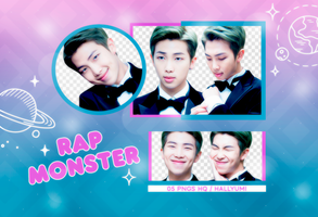 PNG PACK: Rap Monster #3 by Hallyumi