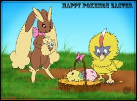 Happy Pokemon Easter by Sinatzeek