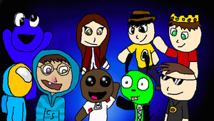 Eight Youtubers and Me by WaterElement33