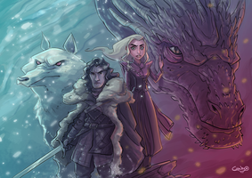 The dragon and the wolf by FrodsRV