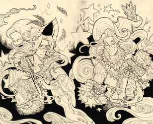 Wizard and Abel - inktober by clover-teapot