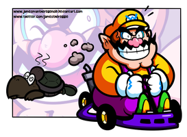 How Wario first joined Mario Kart by JamesmanTheRegenold