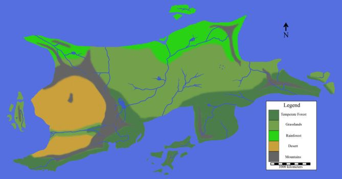 A map of a continent by Imperator-Zor