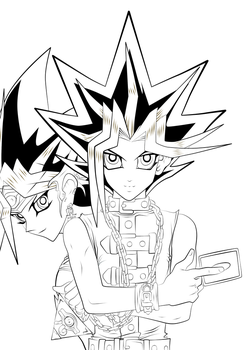 King Of Games --Lineart-- by l3xxybaby