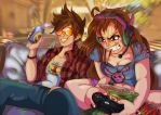 Dva Tracer Gaming Coutch 2 by Toonlancer
