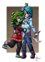 Monster Couple *colored* by MelitaGermaine